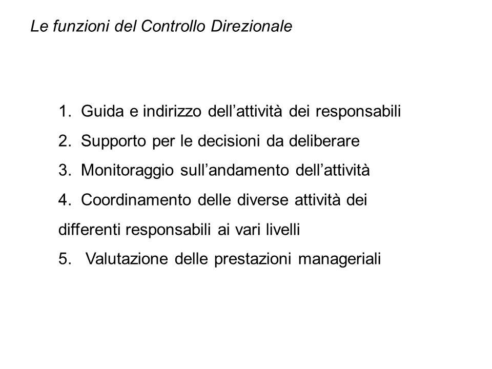 Il controllo direzionale è il subsistema di pianificazione e controllo che si rivolge al management intermedio al fine di fornire una guida (control) nella gestione condotta secondo razionalità e consapevolezza.