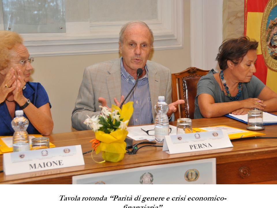 Tavola rotonda Parità di genere e crisi economico- finanziaria
