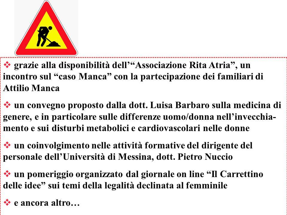 grazie alla disponibilità dellAssociazione Rita Atria, un incontro sul caso Manca con la partecipazione dei familiari di Attilio Manca un convegno pro