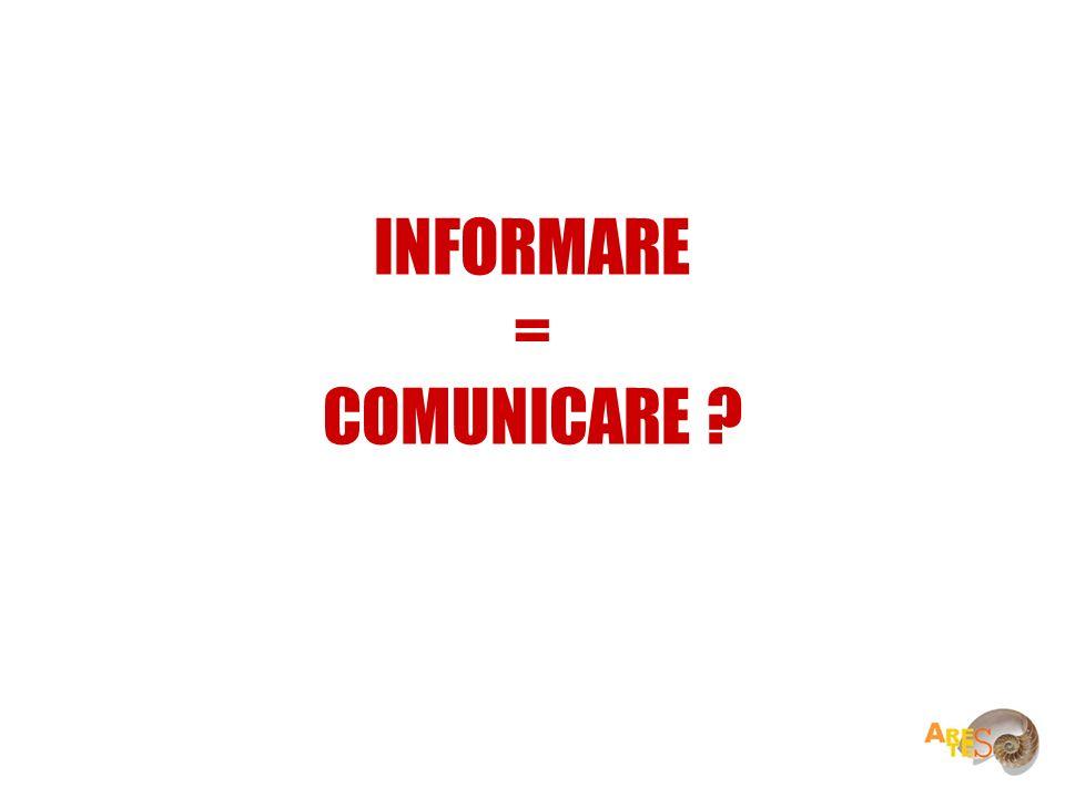 INFORMARE = COMUNICARE ?