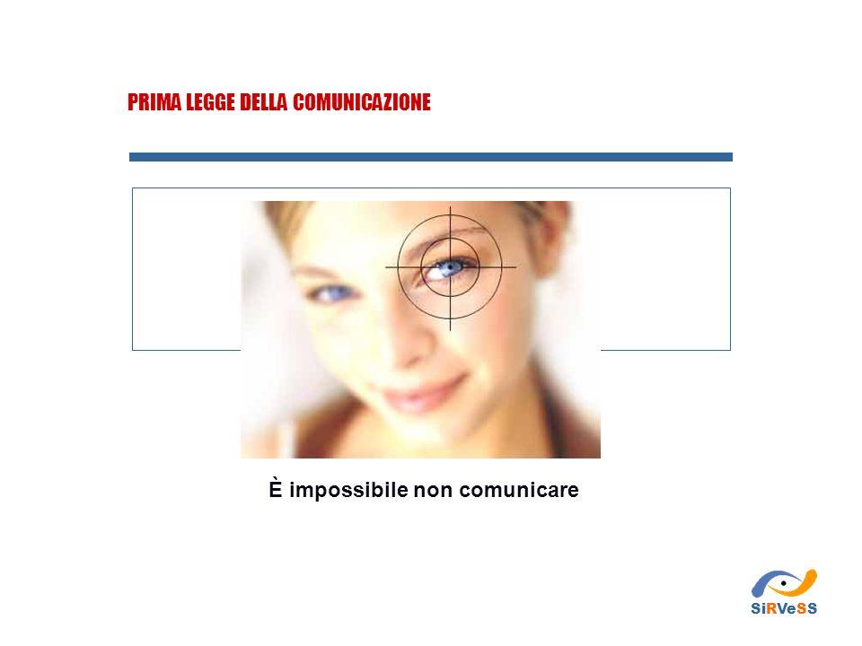 PRIMA LEGGE DELLA COMUNICAZIONE È impossibile non comunicare SiRVeSS