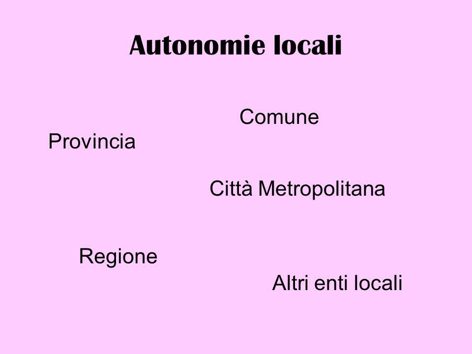 Rapporti tra enti locali e altri livelli di governo Il principio di differenziazione sostituisce quello di uniformità Il principio di differenziazione è sancito dalla Cost.
