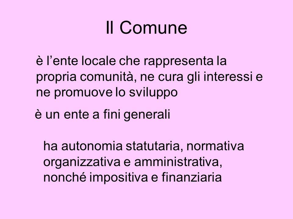 Una considerazione Lautonomia riguarda le comunità locali.