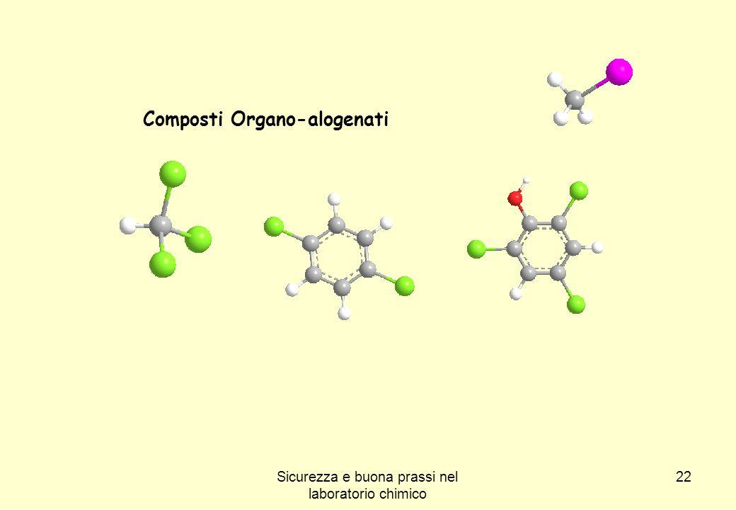 22 Composti Organo-alogenati Sicurezza e buona prassi nel laboratorio chimico