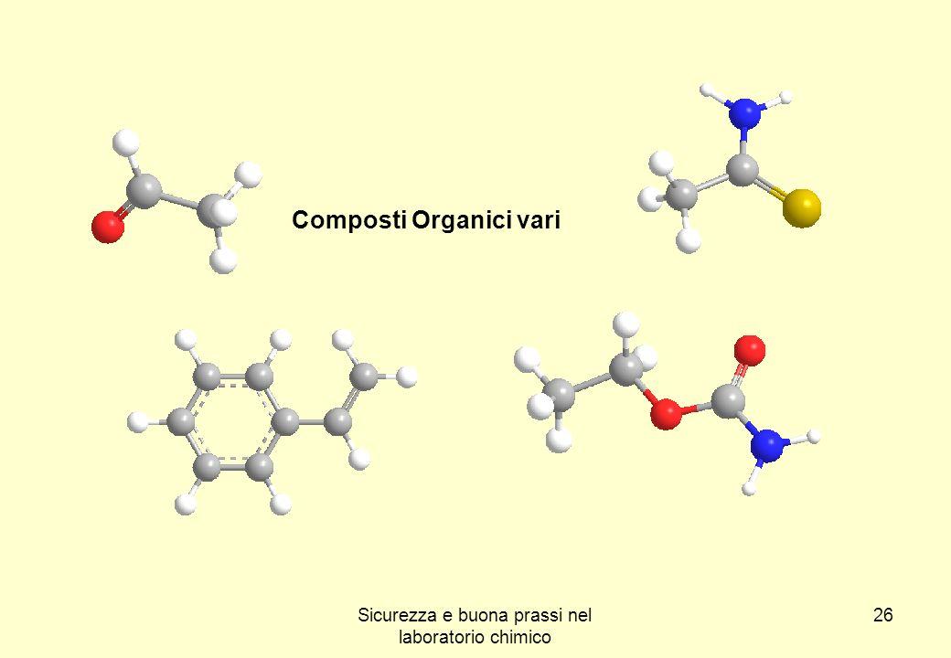 26 Composti Organici vari Sicurezza e buona prassi nel laboratorio chimico