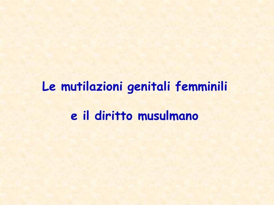 Le mutilazioni genitali femminili e il diritto musulmano