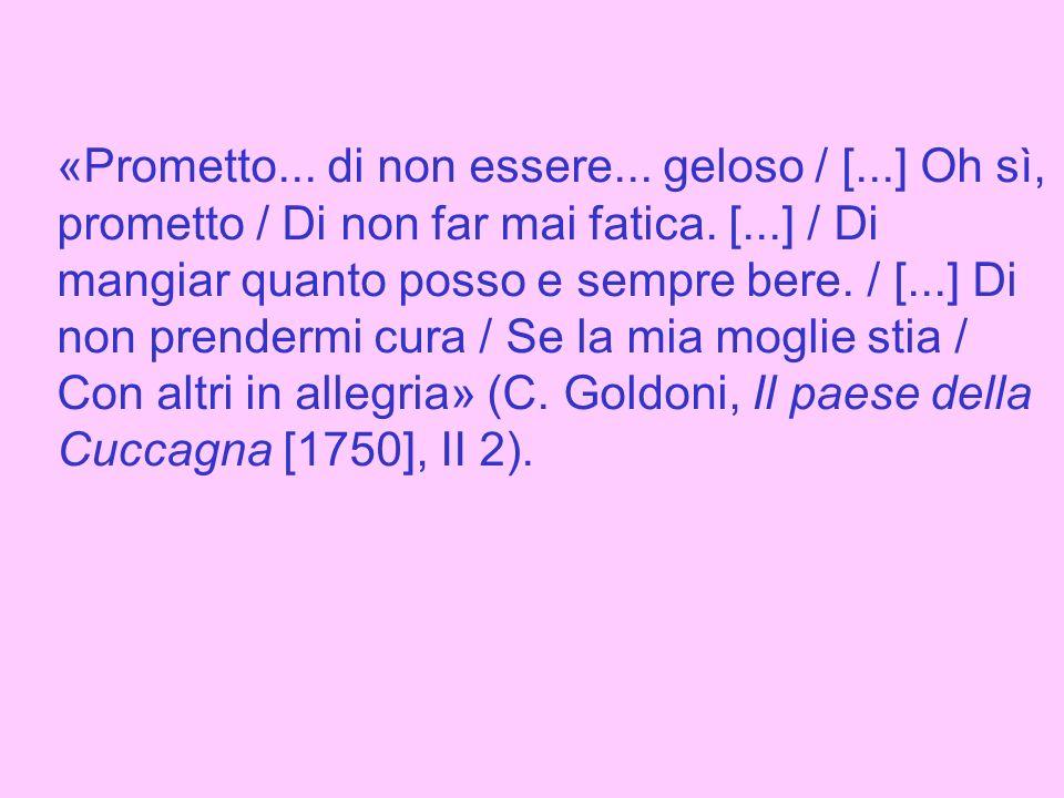 «[Conte] (a Fabrizio) Lui star conta, io star mercanta, Ti star furba, e lui birbanta.