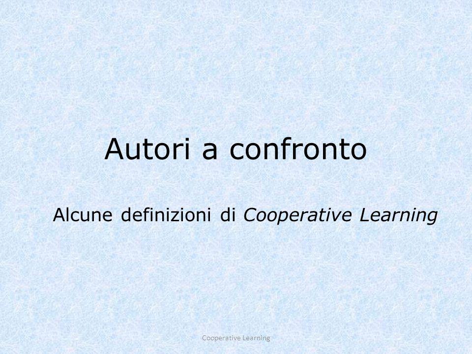 Cooperative learning23 Il cooperative informale Il Cooperative Informale rappresenta il ponte tra attività tradizionali e attività strutturate in Cooperative Learning formale.
