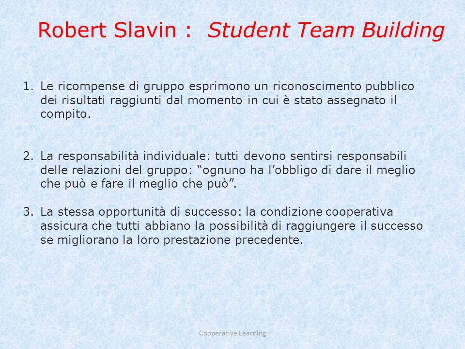 principio n° 3: INTERDIPENDENZA POSITIVA GRUPPI COOPERATIVI Convinzione: non tutti gli/le studenti vogliono lavorare in gruppo a meno che non vi sia una ragione per farlo.