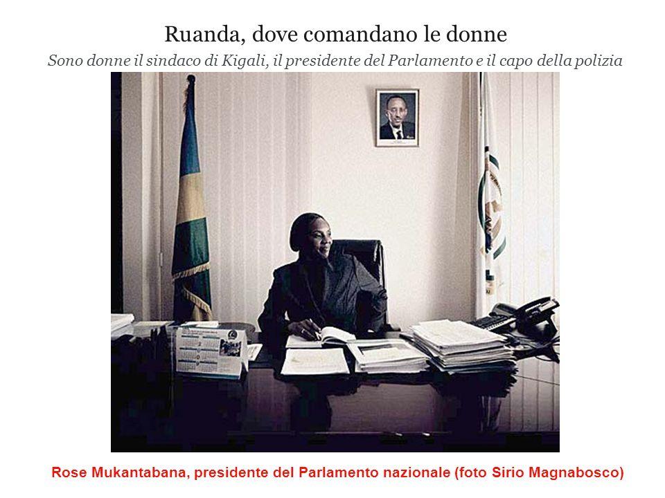 Ruanda, dove comandano le donne Sono donne il sindaco di Kigali, il presidente del Parlamento e il capo della polizia Rose Mukantabana, presidente del Parlamento nazionale (foto Sirio Magnabosco)