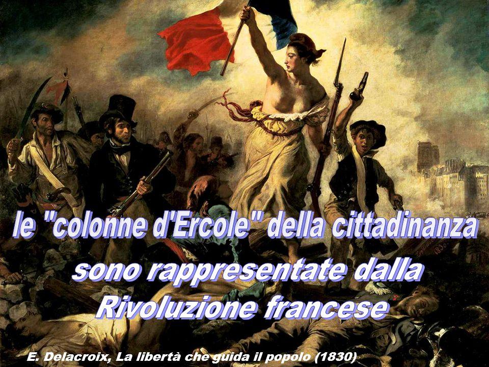 E. Delacroix, La libertà che guida il popolo (1830)