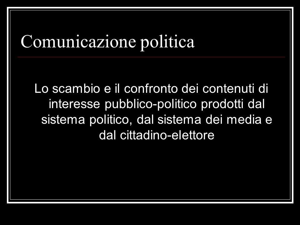 Mediatizzazione della politica OPINION MAKERS : esperti e analisti di politica, commentatori, editorialisti, politologi …