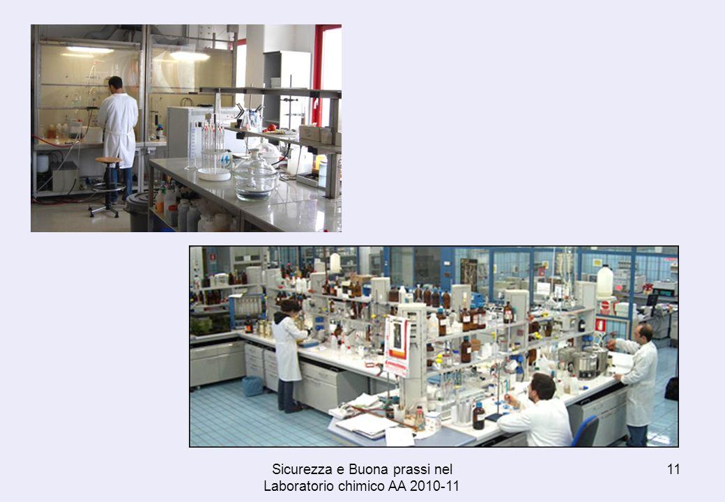 Sicurezza e Buona prassi nel Laboratorio chimico AA 2010-11 11