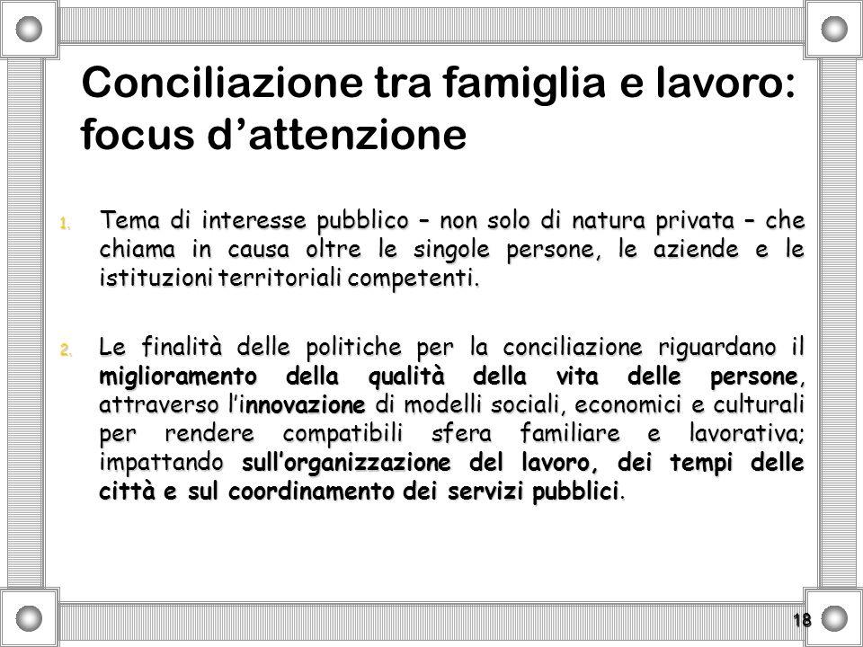 18 1. Tema di interesse pubblico – non solo di natura privata – che chiama in causa oltre le singole persone, le aziende e le istituzioni territoriali