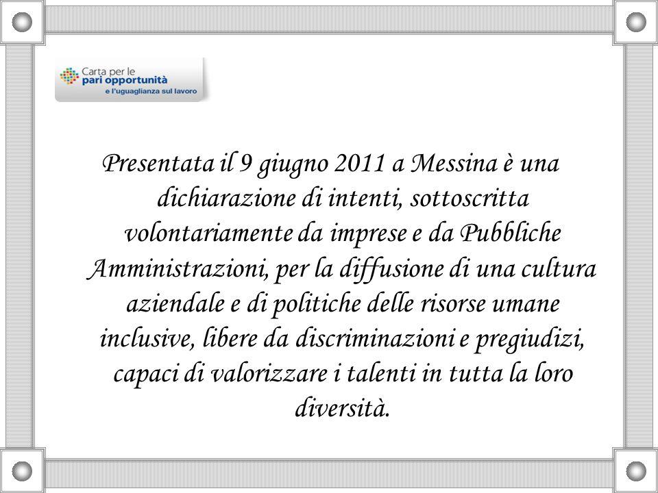 Presentata il 9 giugno 2011 a Messina è una dichiarazione di intenti, sottoscritta volontariamente da imprese e da Pubbliche Amministrazioni, per la d