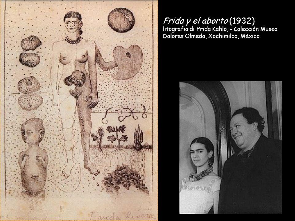 Frida y el aborto (1932) litografia di Frida Kahlo, - Colección Museo Dolores Olmedo, Xochimilco, México