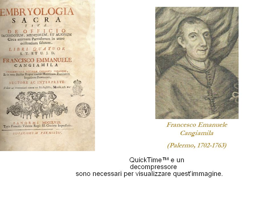 Francesco Emanuele Cangiamila (Palermo, 1702-1763)