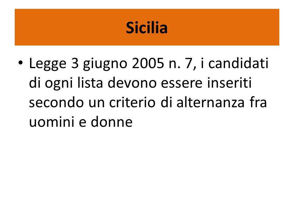 Sicilia Legge 3 giugno 2005 n.