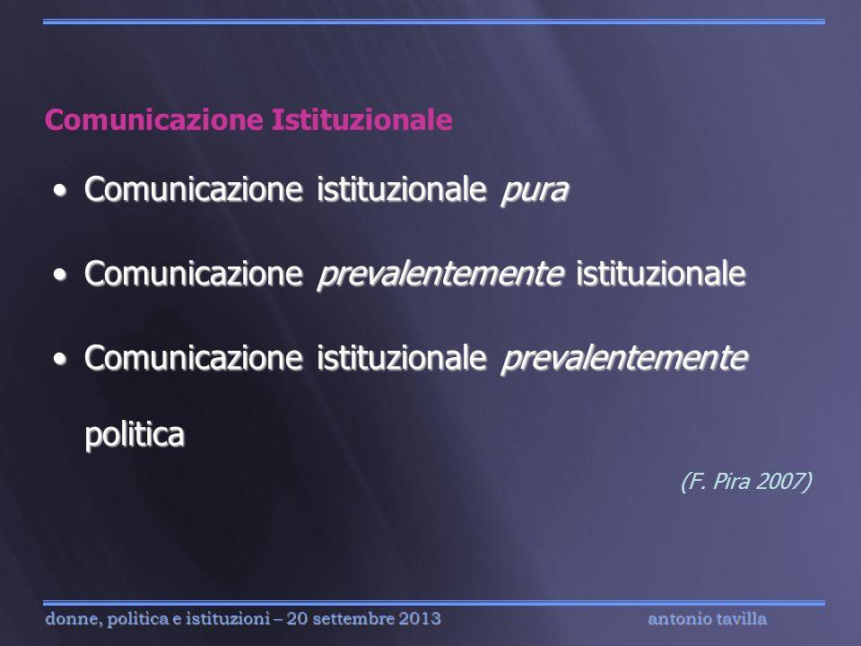 antonio tavilla donne, politica e istituzioni – 20 settembre 2013 Comunicazione Istituzionale Comunicazione istituzionale puraComunicazione istituzion