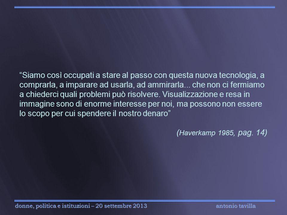 antonio tavilla donne, politica e istituzioni – 20 settembre 2013 Siamo così occupati a stare al passo con questa nuova tecnologia, a comprarla, a imp