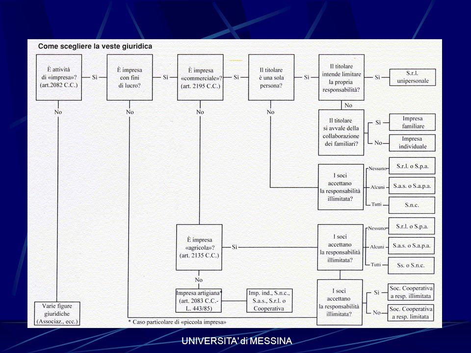 UNIVERSITA di MESSINA Come scegliere la veste giuridica