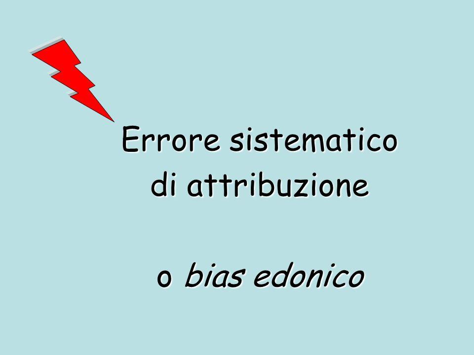 Errore sistematico di attribuzione o bias edonico