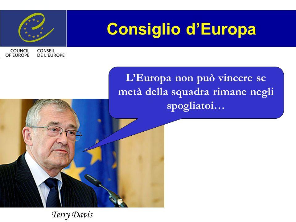 Terry Davis Consiglio dEuropa LEuropa non può vincere se metà della squadra rimane negli spogliatoi…