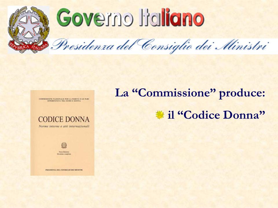 La Commissione produce: il Codice Donna