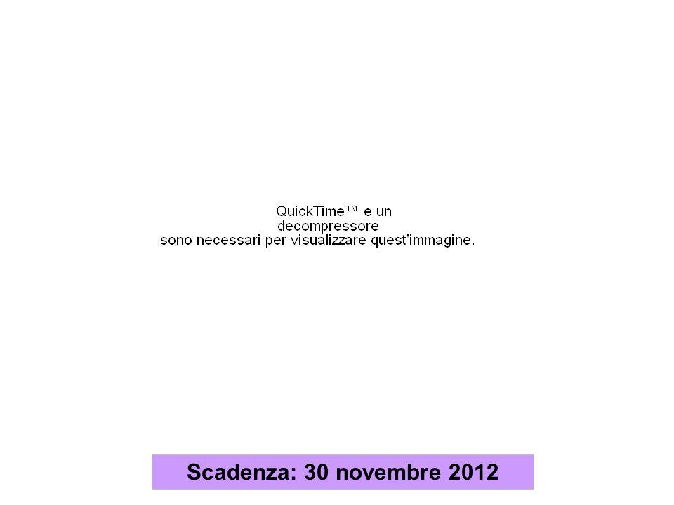 Scadenza: 30 novembre 2012
