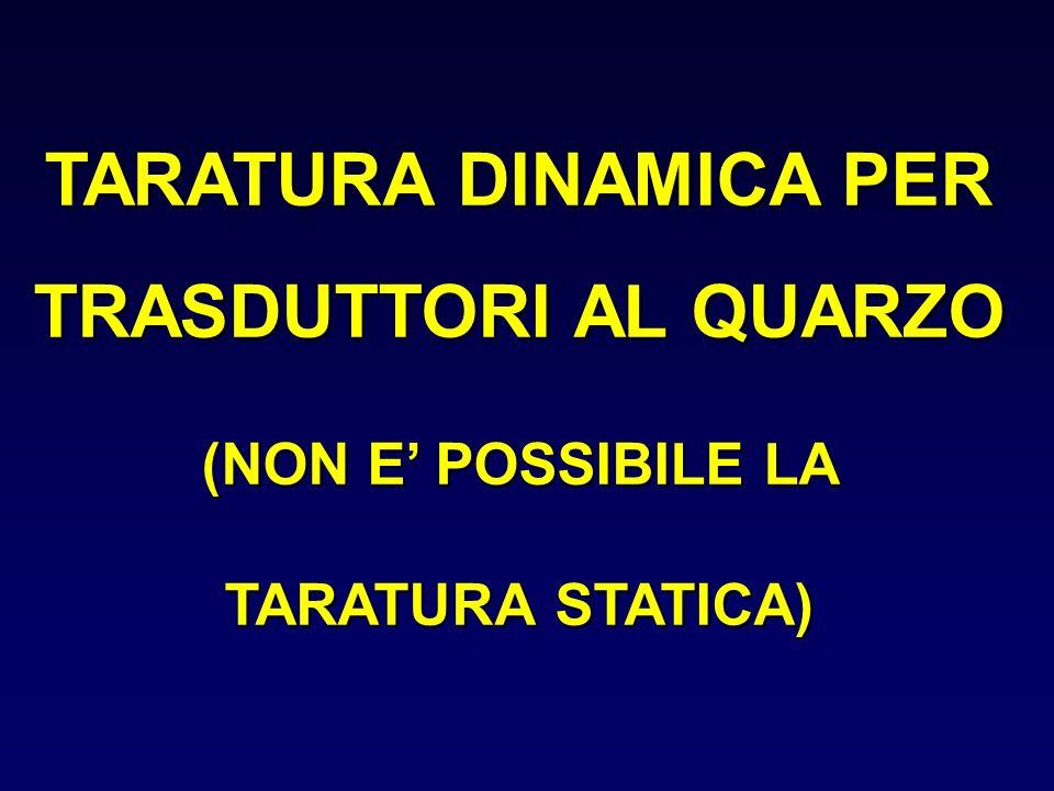 TARATURA DINAMICA PER TRASDUTTORI AL QUARZO (NON E POSSIBILE LA TARATURA STATICA)