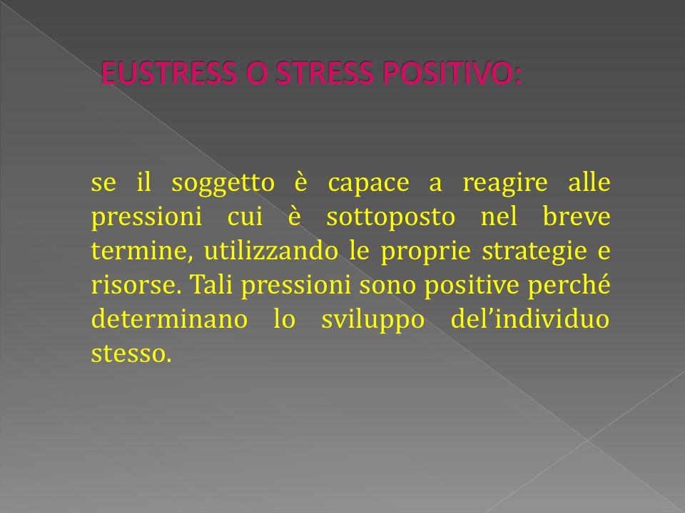 se il soggetto è capace a reagire alle pressioni cui è sottoposto nel breve termine, utilizzando le proprie strategie e risorse.