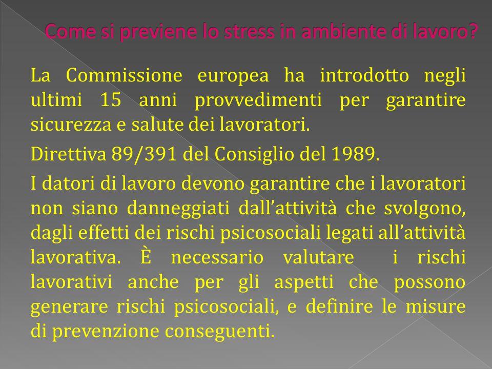 La Commissione europea ha introdotto negli ultimi 15 anni provvedimenti per garantire sicurezza e salute dei lavoratori.
