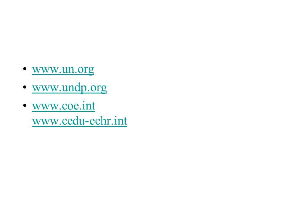 Alcuni riferimenti www.un.org www.undp.org www.coe.int www.cedu-echr.intwww.coe.int www.cedu-echr.int scolart@juris.uniroma2.it