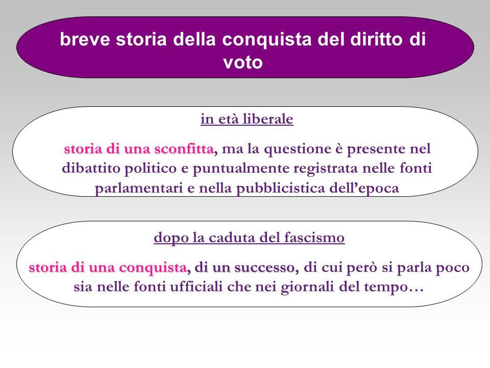 Palmiro Togliatti …abbiamo lottato perché venisse concesso alle donne il voto attivo e passivo… senza tenere nessun conto delle conseguenze che avrebbero potuto derivarne per il nostro partito Alcide De Gasperi Pietro Nenni