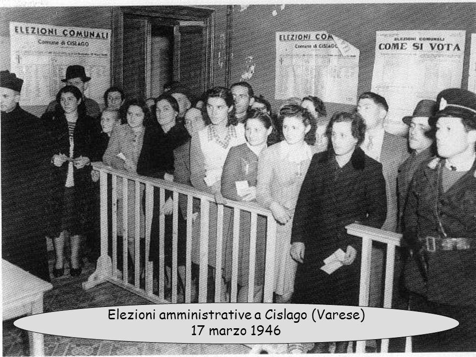 Elezioni amministrative a Cislago (Varese) 17 marzo 1946
