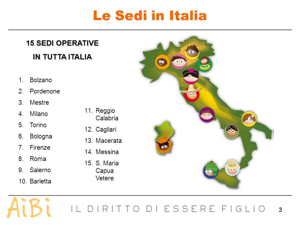 33 Le Sedi in Italia 15 SEDI OPERATIVE IN TUTTA ITALIA 1.Bolzano 2.Pordenone 3.Mestre 4.Milano 5.Torino 6.Bologna 7.Firenze 8.Roma 9.Salerno 10.Barlet
