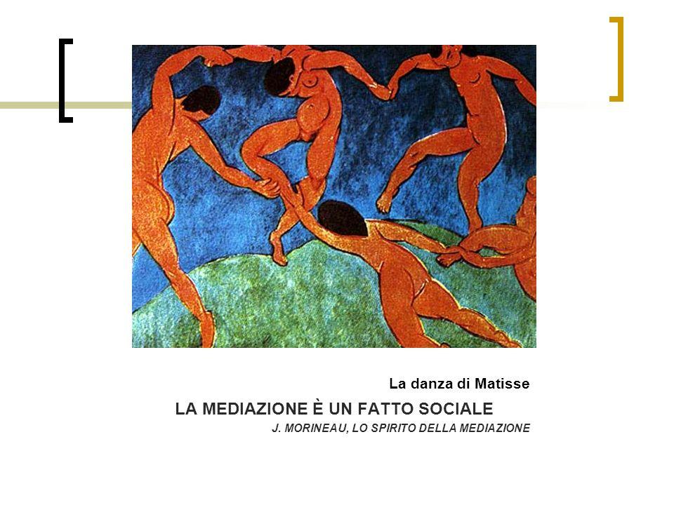 La danza di Matisse LA MEDIAZIONE È UN FATTO SOCIALE J. MORINEAU, LO SPIRITO DELLA MEDIAZIONE