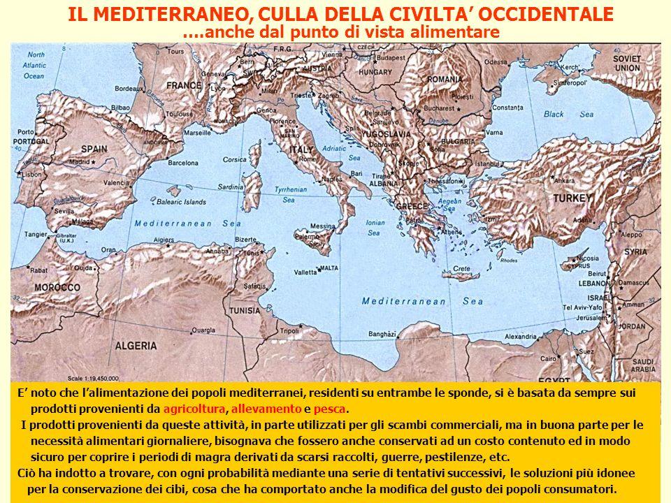 Cdl in Scienze dell enogastronomia mediterranea e salute IL MEDITERRANEO, CULLA DELLA CIVILTA OCCIDENTALE E noto che lalimentazione dei popoli mediter