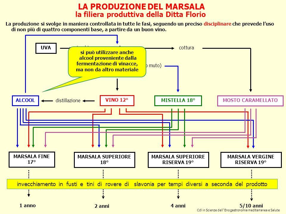 Cdl in Scienze dell Enogastronomia mediterranea e Salute LA PRODUZIONE DEL MARSALA la filiera produttiva della Ditta Florio torchio mosto fermentazion