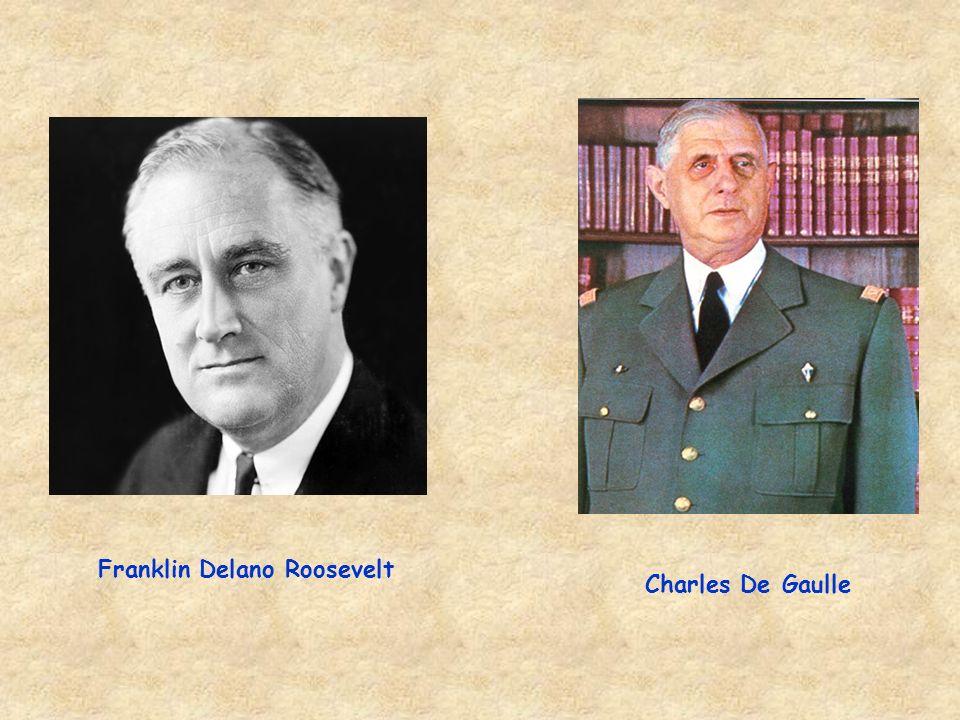 Charles De Gaulle Franklin Delano Roosevelt