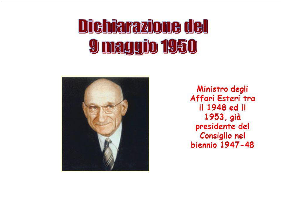 Ministro degli Affari Esteri tra il 1948 ed il 1953, già presidente del Consiglio nel biennio 1947-48