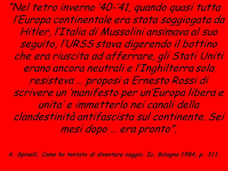 Nel tetro inverno 40-41, quando quasi tutta lEuropa continentale era stata soggiogata da Hitler, lItalia di Mussolini ansimava al suo seguito, lURSS s