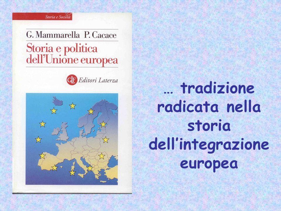 … tradizione radicata nella storia dellintegrazione europea