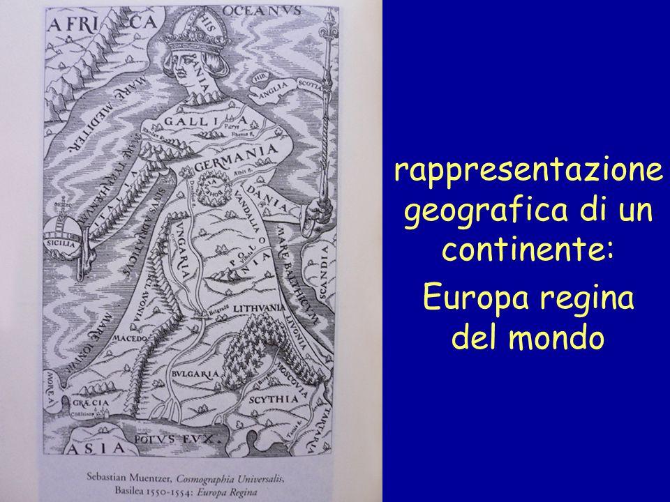 rappresentazione geografica di un continente: Europa regina del mondo