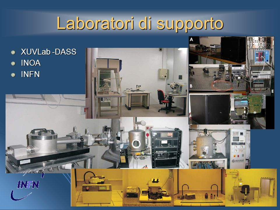 Laboratori di supporto XUVLab -DASS XUVLab -DASS INOA INOA INFN INFN
