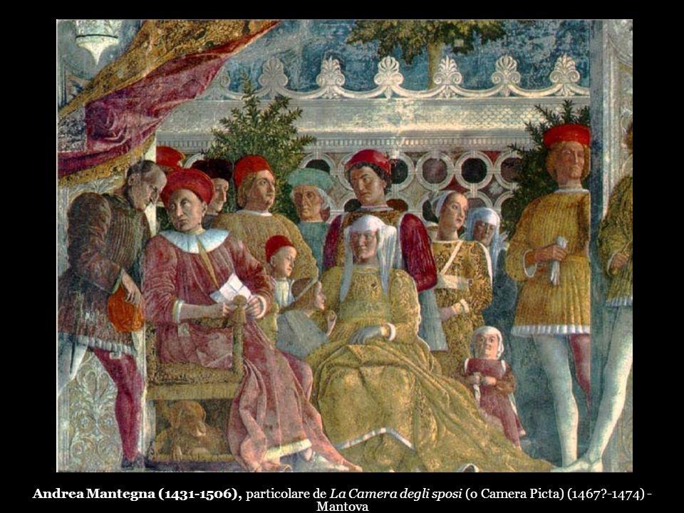 Andrea Mantegna (1431-1506), particolare de La Camera degli sposi (o Camera Picta) (1467?-1474) - Mantova