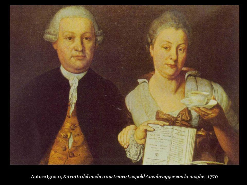 Autore Ignoto, Ritratto del medico austriaco Leopold Auenbrugger con la moglie, 1770