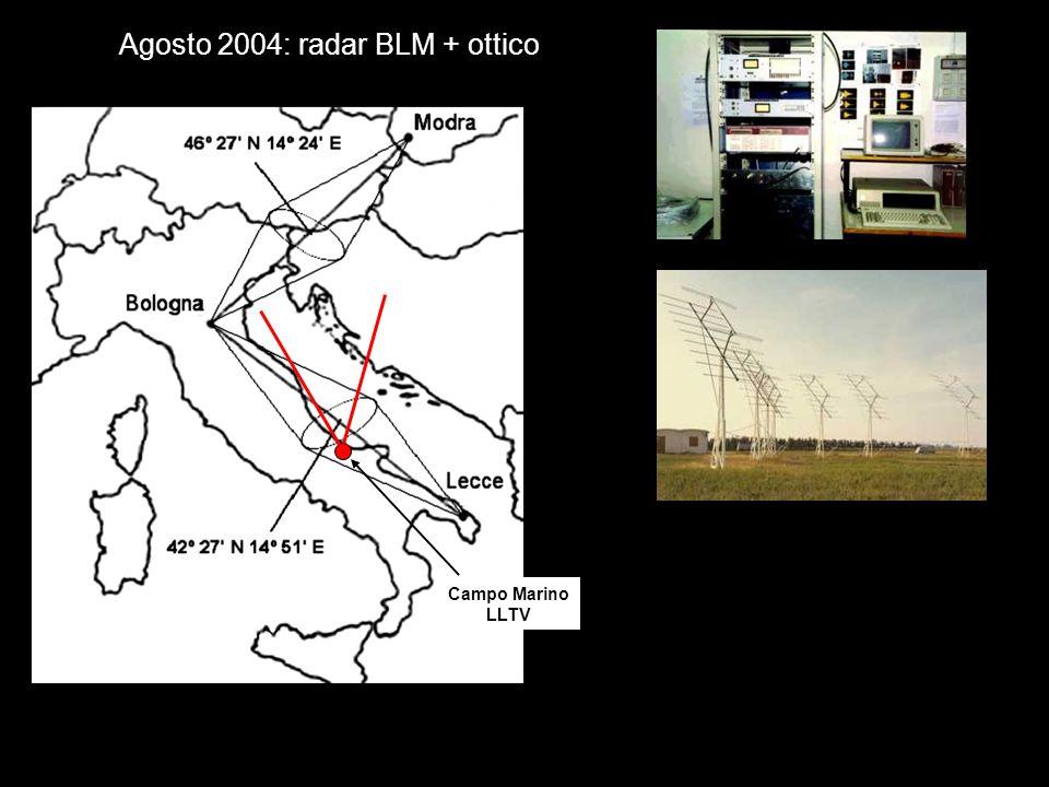 Campo Marino LLTV Agosto 2004: radar BLM + ottico