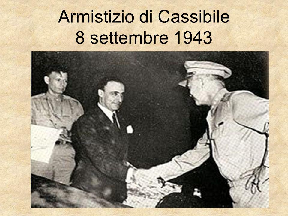 Armistizio di Cassibile 8 settembre 1943