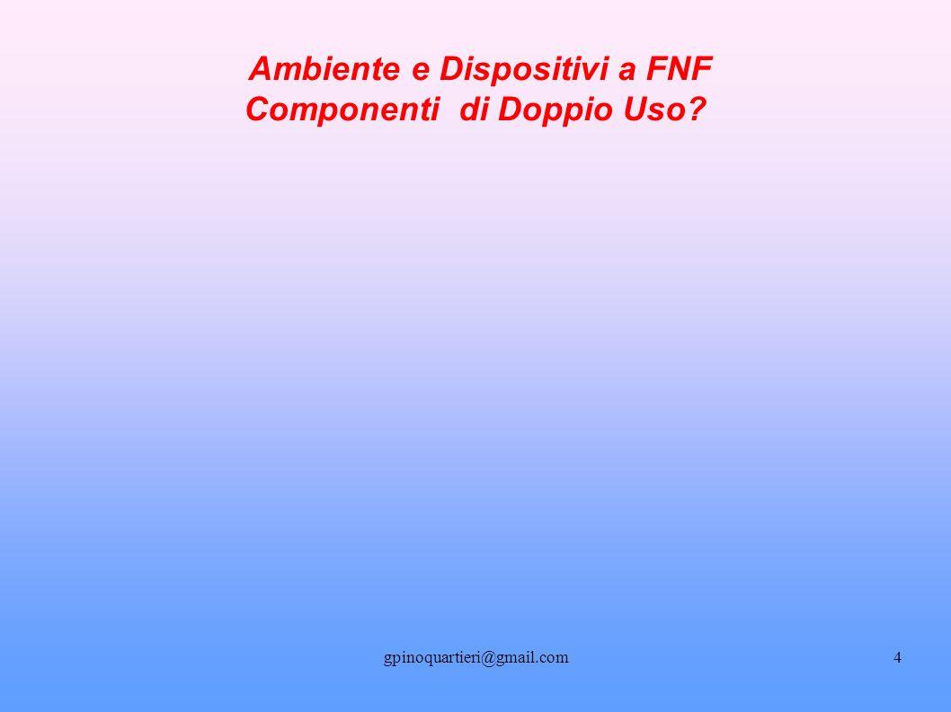 gpinoquartieri@gmail.com5 Ambiente e Dispositivi a FNF: Componenti di Doppio Uso.